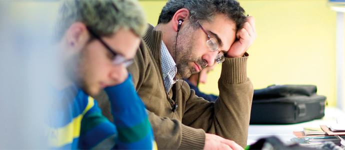 Estudiants de la Universitat de València en classe.