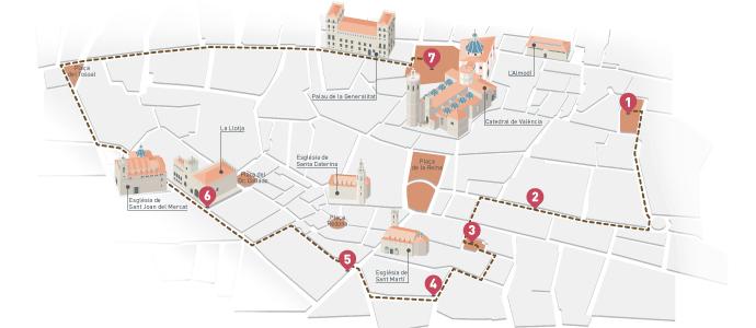 El tema 31: La ruta Vives | El passeig imaginat per Vives (plànol), p. 20-25